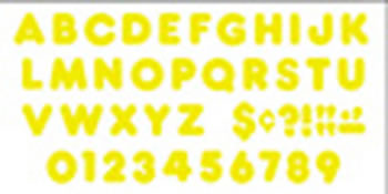 READY LETTERS 4 INCH CASUAL YELLOW