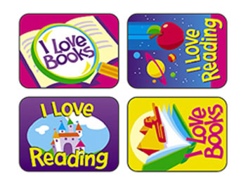 APPLAUSE STICKERS READING FUN 100PK
