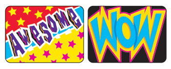 APPLAUSE STICKERS WOW 100/PK WORDS