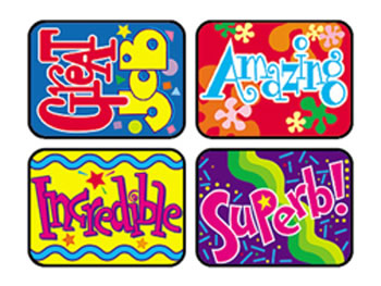 APPLAUSE STICKERS WONDERFUL 100/PK