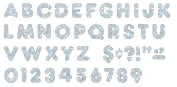READY LETTERS 2 INCH CASUAL SILVER