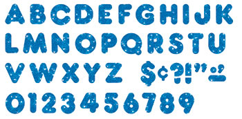 READY LETTERS 2 INCH CASUAL BLUE