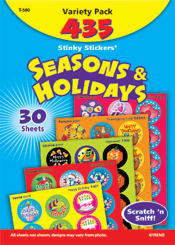 STINKY STICKERS SEASONS & 432/PK