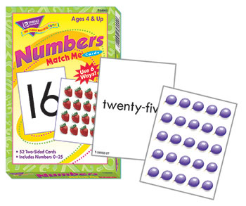 MATCH ME CARDS NUMBERS 0-25 52/BOX