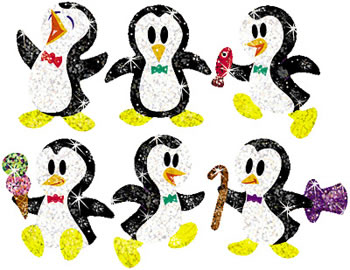 SPARKLE STICKERS PROUD PENGUINS