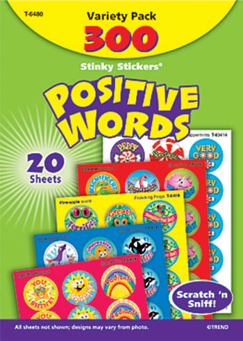 STINKY STICKERS POSITIVE WORDS