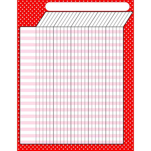 POLKA DOTS RED INCENTIVE CHART