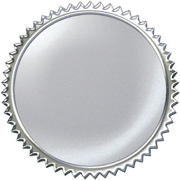 AWARD SEAL SILVER BURST