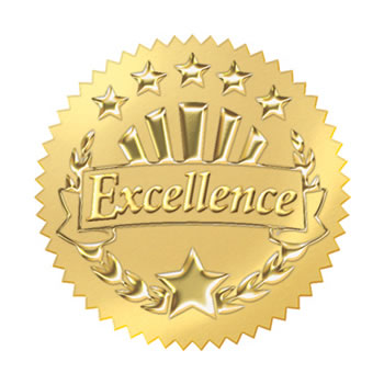 AWARD SEAL EXCELLENCE GOLD