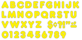 READY LETTERS 3 INCH CASUAL YELLOW