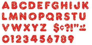 READY LETTERS 3 CASUAL RED SPARKLE