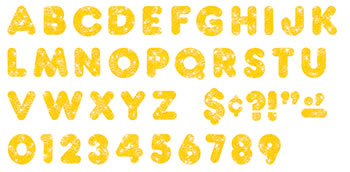 READY LETTERS 3 CASUAL YELLOW