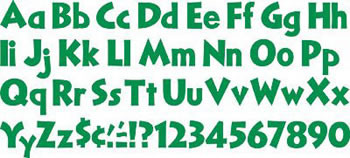 READY LETTERS KELLY GREEN 4 IN