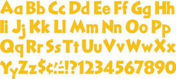 READY LETTERS GOLD 4 IN
