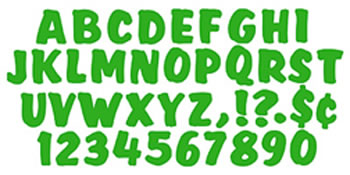 READY LETTERS 4 SPLASH GREEN