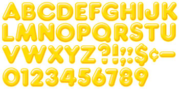 READY LETTERS 2INCH 3-D YELLOW