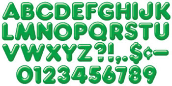 READY LETTERS 2INCH 3-D GREEN