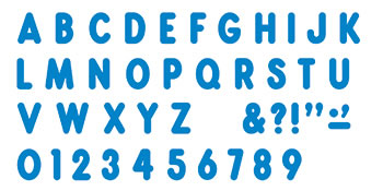 BLUE READY LETTERS 7IN UPPERCASE