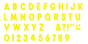 YELLOW  READY LETTERS 7IN UPPERCASE