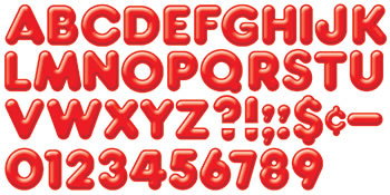READY LETTERS 4INCH 3-D RED
