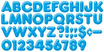 READY LETTERS 4INCH 3-D BLUE