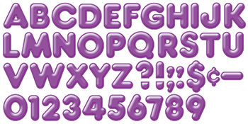 READY LETTERS 4 INCH 3-D PURPLE