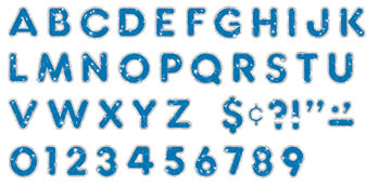 BLUE SPARKLE PLUS 4IN READY LETTERS