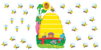 BB SET BUSY BEES JOB CHART PLUS