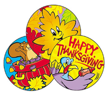 STINKY STICKERS THANKSGIVING 60/PK