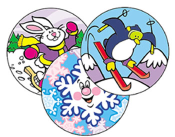 STINKY STICKERS WINTERTIME FUN 60PK