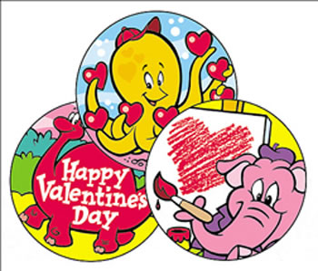STINKY STICKERS VALENTINES 60/PK