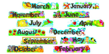ALPHA-BEADS 12 MONTHLY HEADERS MINI