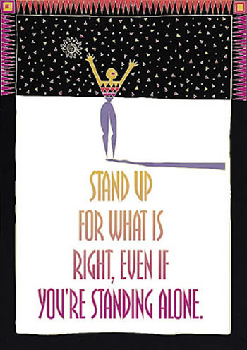 POSTER STAND UP FOR WHAT IS RIGHT