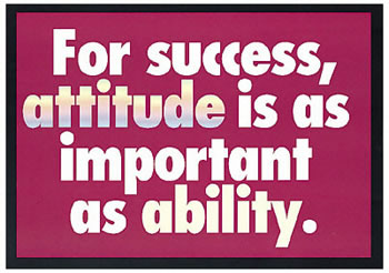 POSTER FOR SUCCESS ATTITUDE IS