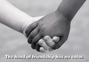 POSTER THE HAND OF FRIENDSHIP