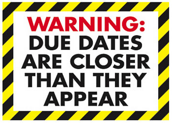 POSTER WARNING DUE DATES ARE