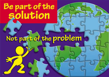 BE PART OF THE SOLUTION NOT PART O