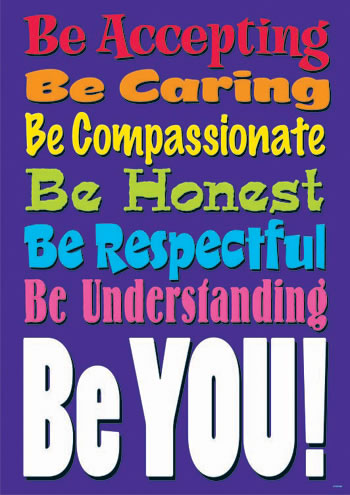 BE ACCEPTING BE CARING LARGE POSTER
