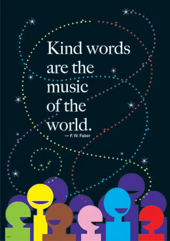 KIND WORDS ARE THE MUSIC LP LARGE