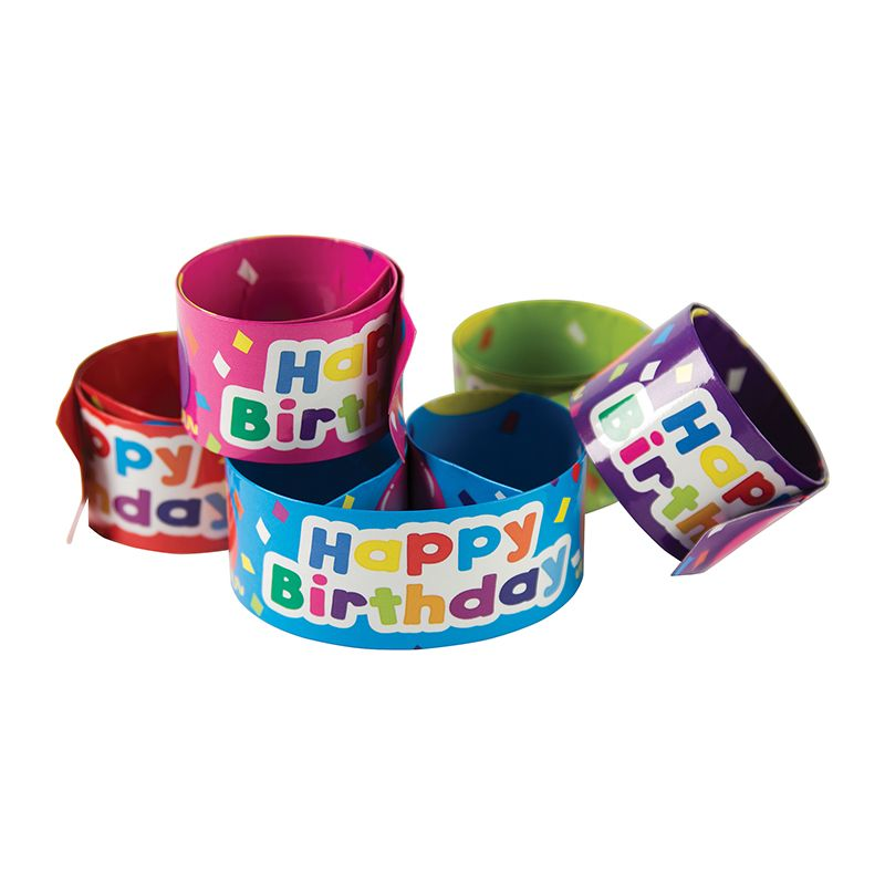 SLAP BRACELETS HAPPY BIRTHDAY