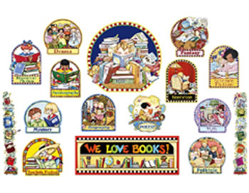 ME WE LOVE BOOKS BULLETIN BOARD