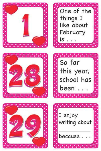FEBRUARY POLKA DOTS CALENDAR DAYS
