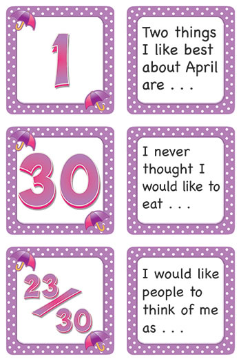 APRIL POLKA DOTS CALENDAR DAYS