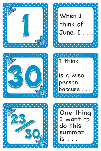 JUNE POLKA DOTS CALENDAR DAYS STORY