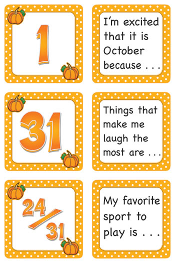 OCTOBER POLKA DOTS CALENDAR DAYS