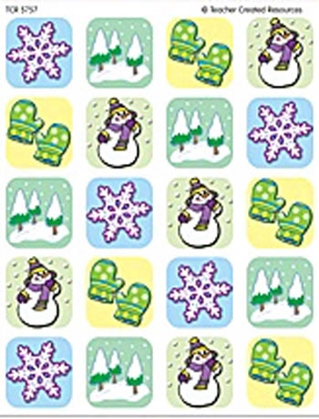WINTER SEASON STICKERS 120 STKS