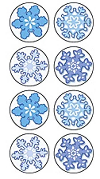 WINTER MINI STICKERS 378 STKS