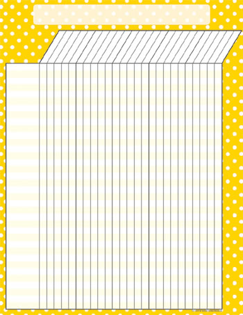 YELLOW POLKA DOTS INCENTIVE CHART