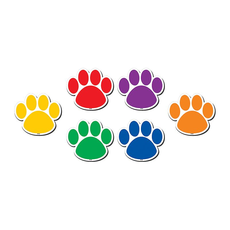 COLORFUL PAW PRINTS MAGNETIC