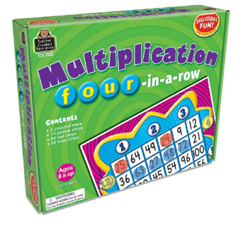 MULTIPLICATION FOUR-IN-A-ROW GAME